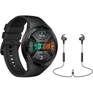 MONTRE CONNECTÉE HUAWEI Watch GT 2e Noir + Écouteurs Bluetooth Spor