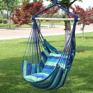 HAMAC  (bandes bleues)Hamac-chaise suspendue-chaise berç