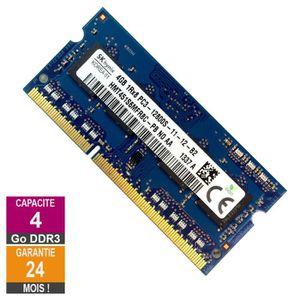 MÉMOIRE RAM Barrette Mémoire 4Go RAM DDR3 Hynix HMT451S6MFR8C-