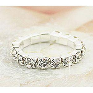 BAGUE - ANNEAU LCC®Bague Femme/fille fantaisie faux diamant Argen