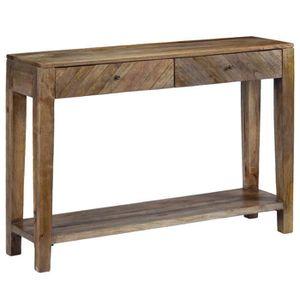 Haute Qualite Table Console Bois De Manguier Massif 118 X 30 X 80 Cm