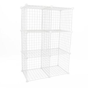 ARMOIRE DE CHAMBRE Armoire penderie cabinet etagère de 6 cubes de 35x