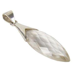 PENDENTIF VENDU SEUL Unique pendentif pour femme cristal de roche argen