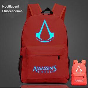 CARTABLE Assassin's Creed-Sac à dos Noctilucent Fluorescenc