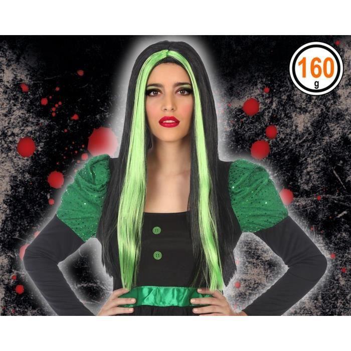 ATOSA - Perruque Halloween Adultes Femmes - Vert