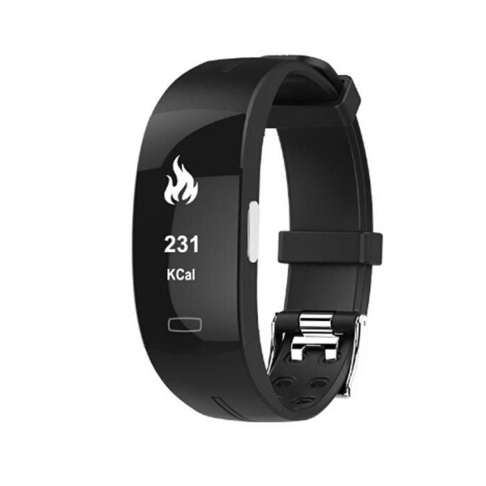 Montre connectée,Bracelet intelligent Teamyo Bracelet de suivi de forme physique ECG + PPG moniteur d'activité - Type Black
