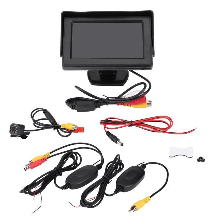 Vue arrière de voiture sans fil inversant la caméra de recul Kit de moniteur LCD TFT 4,3 pouces Vision nocturne HB035 -YNF