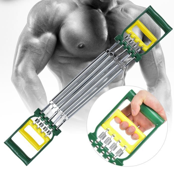 Spring Steels Fitness Dual Use Chest Expander Arm Chest Developer Exercise Training Equipment-YIN