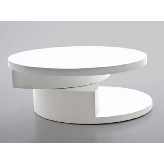 Table basse Moderne et Design KERBY Laqué Blanc