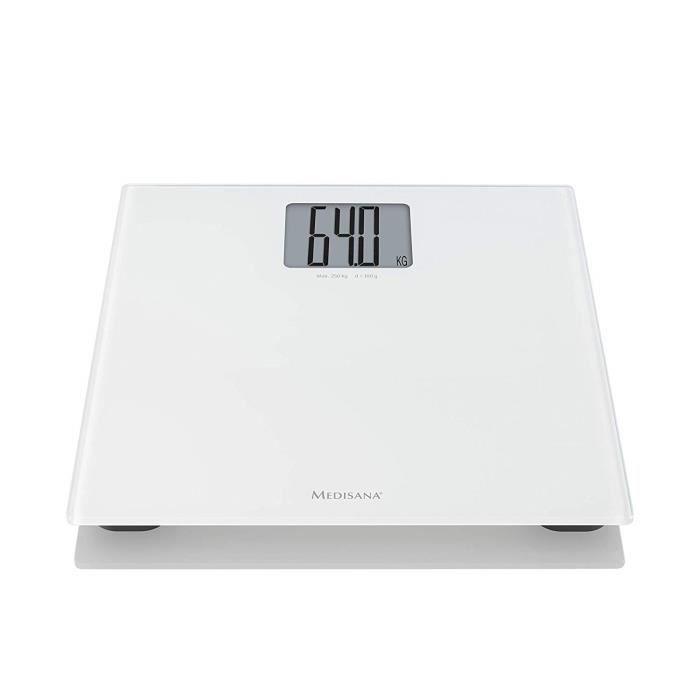 Medisana PS 470 XL Pèse Personne Électronique, En Verre De Sécurité Trempé, surface en verre, 250 kg, Balance Numérique pour Sall