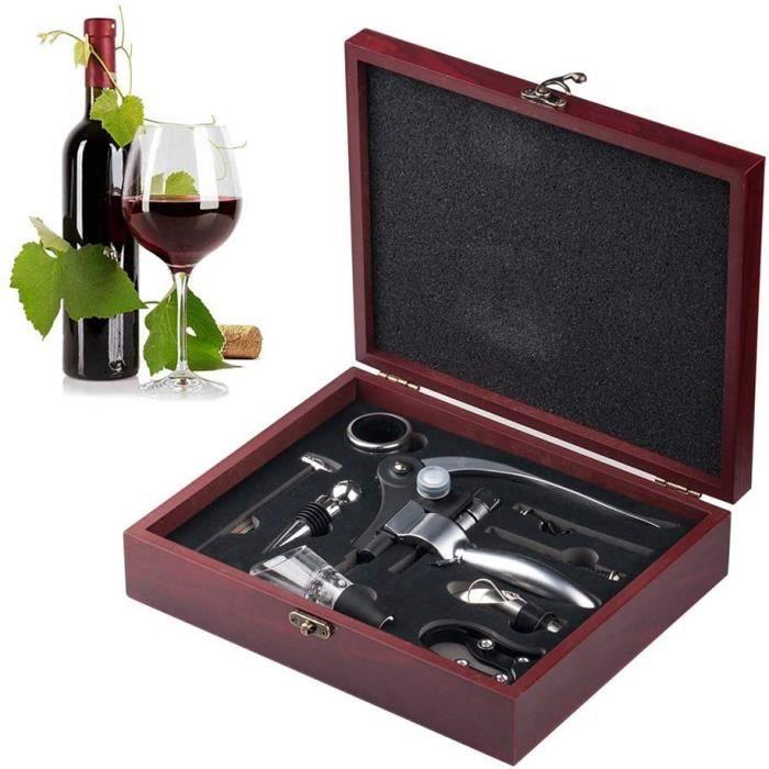 COFFRET CADEAU VIN K.LSX Ouvre Bouteille, Coffret Cadeau Accessoires à Vin, Tire-Bouchon Ouvre-Bouteille De Vin Rouge ave745
