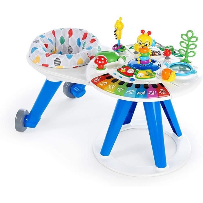 Baby Einstein, Around We Grow Trotteur & Table d&rsquoActivit&eacute Multilingue Fran&ccedilais Anglais Espagnol, Si&egravege To