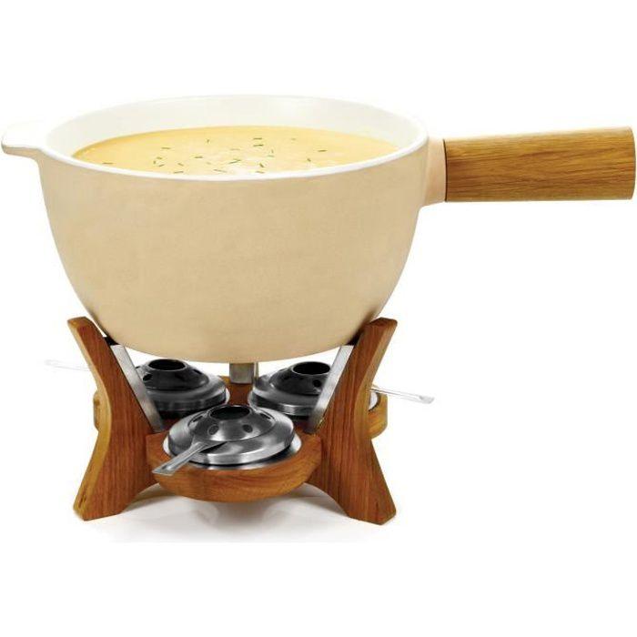 Service à fondue géant avec caquelon en céramique pour 12 personnes Mr Big-