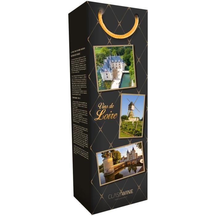 CLASSWINE Pochette pour 1 bouteille vin de Loire Pêle mêle