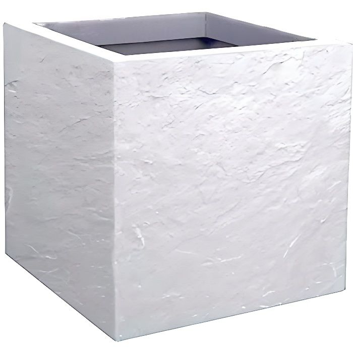 EDA - Pot carré Volcania Up - Blanc cérusé - 21L