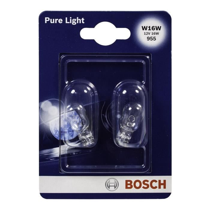 BOSCH Ampoule Pure Light 2 W16W 12V 16W