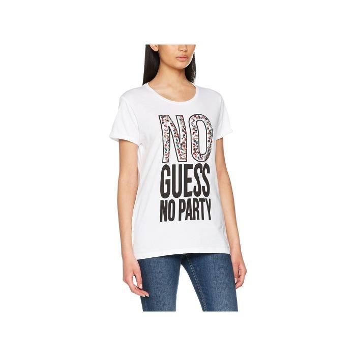 Guess T-Shirt Femme No Party Blanc