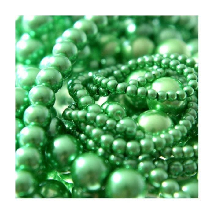 Perles nacrées 10 mm en verre de bohême couleurs vives lot de 20 Vert clair Vert Clair