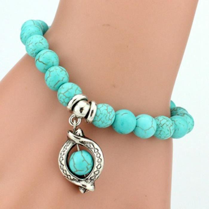 Vintage Turquoises Charms Bracelet Hommes Lovely Pendants Bracelets Bracelets pour Femmes Bracelet Bijoux