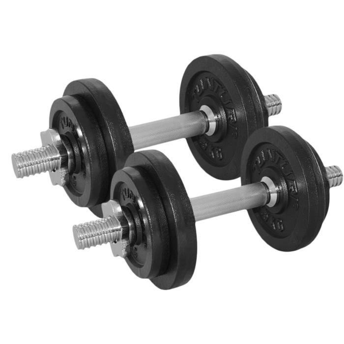 TUNTURI - Kit haltère 20kg, avec 2 Barres Screw
