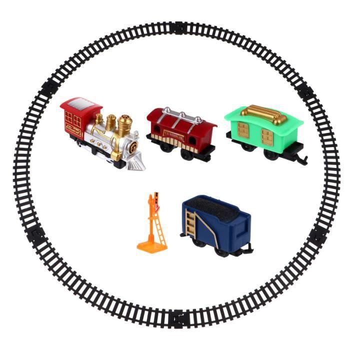 1 ensemble de train électrique de de jouet de de voie classique robuste durable CIRCUIT MINIATURE