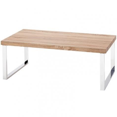table basse en bois pieds chrom luna achat vente. Black Bedroom Furniture Sets. Home Design Ideas