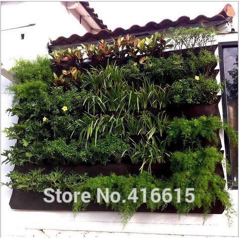 Vertical jardin mur pot 16-page spécial plantation sac en plastique bassin  balcon décoration jardin potager