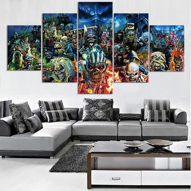 5 piece print poster iron maiden band peintures sur toile art mural pour décorations à la maison wall decor unique gift wall