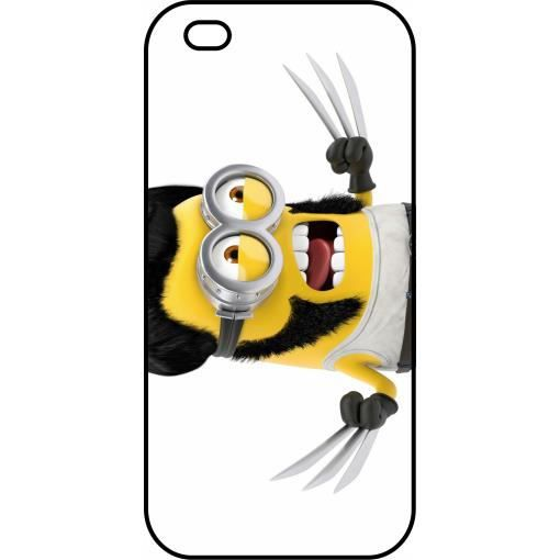 Coque apple iphone 5s minion wolverine