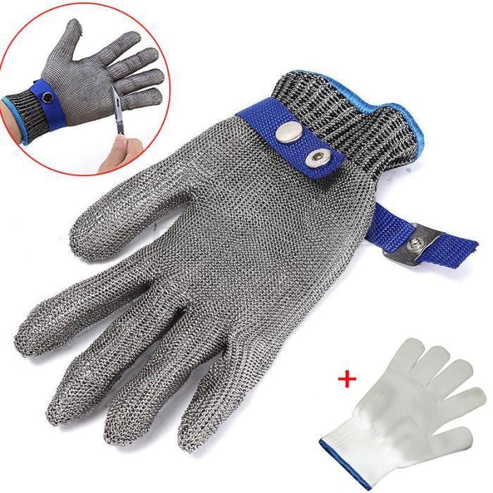Gant Protection Anti Coupure Pour Boucher En Inox Taille L