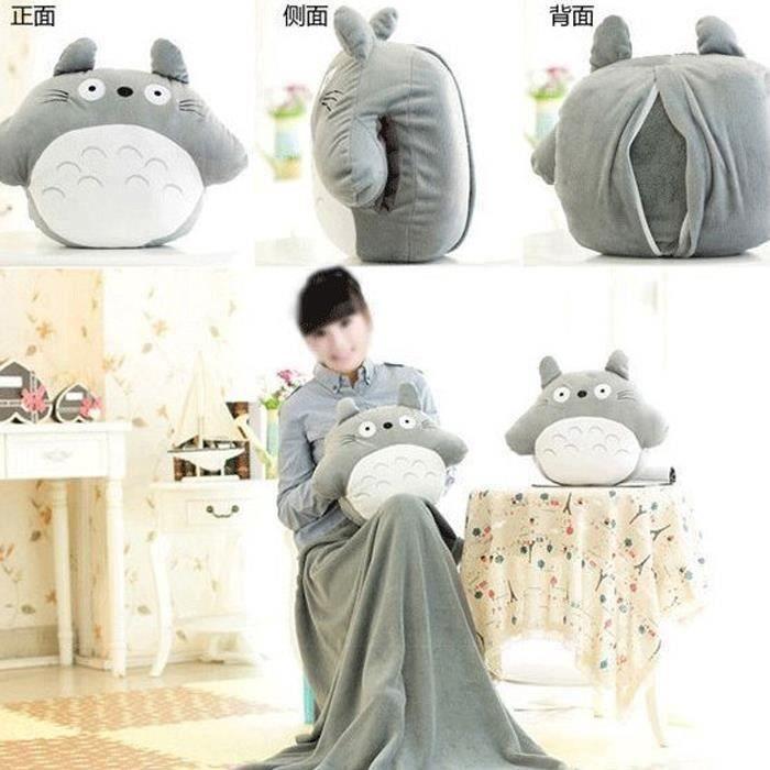 OREILLER ronde Totoro poupée oreiller 33 * 38cm, couverture