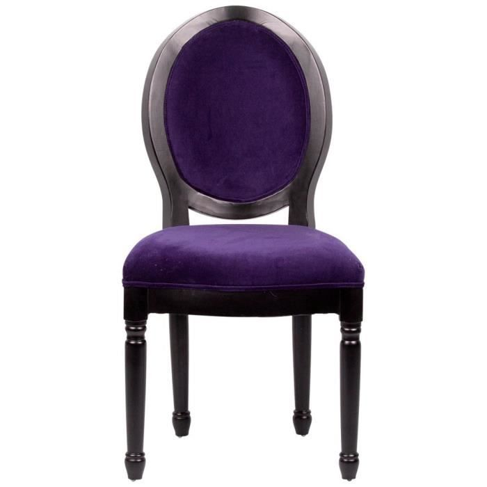chaise baroque prune