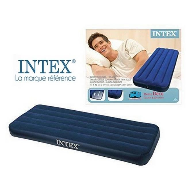 intex matelas gonflable lit d 39 appoint 1 place achat. Black Bedroom Furniture Sets. Home Design Ideas