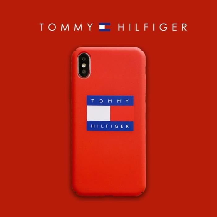 coque iphone 6 6s tommy hilfiger rouge antichoc pr