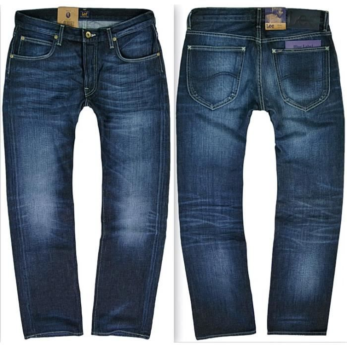 jean coupe droite homme lee mod le blake blue label bleu denim achat vente jeans cdiscount. Black Bedroom Furniture Sets. Home Design Ideas