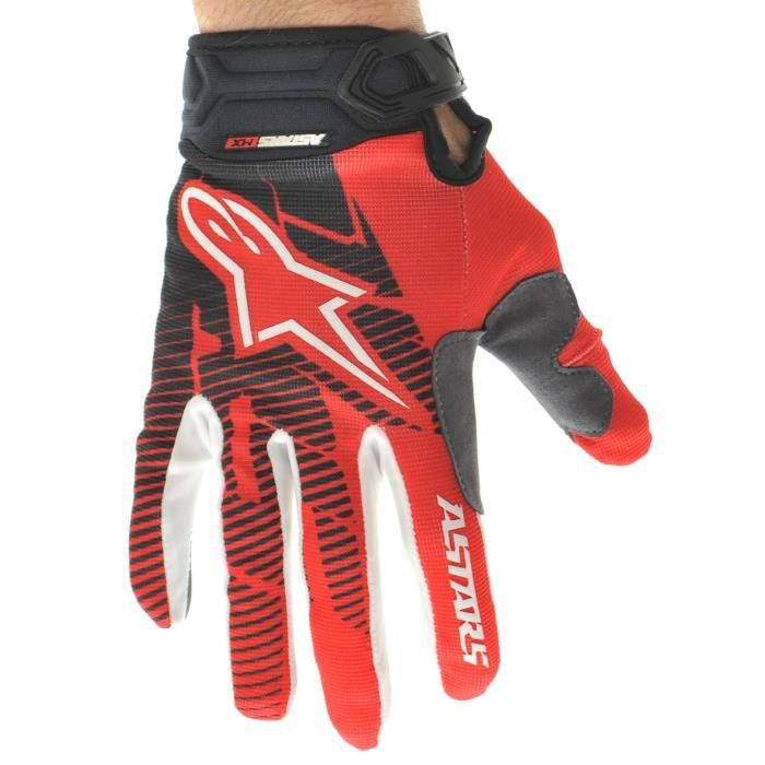gants motocross alpinestars 2013 racer rouge noir achat vente gants sous gants gants. Black Bedroom Furniture Sets. Home Design Ideas