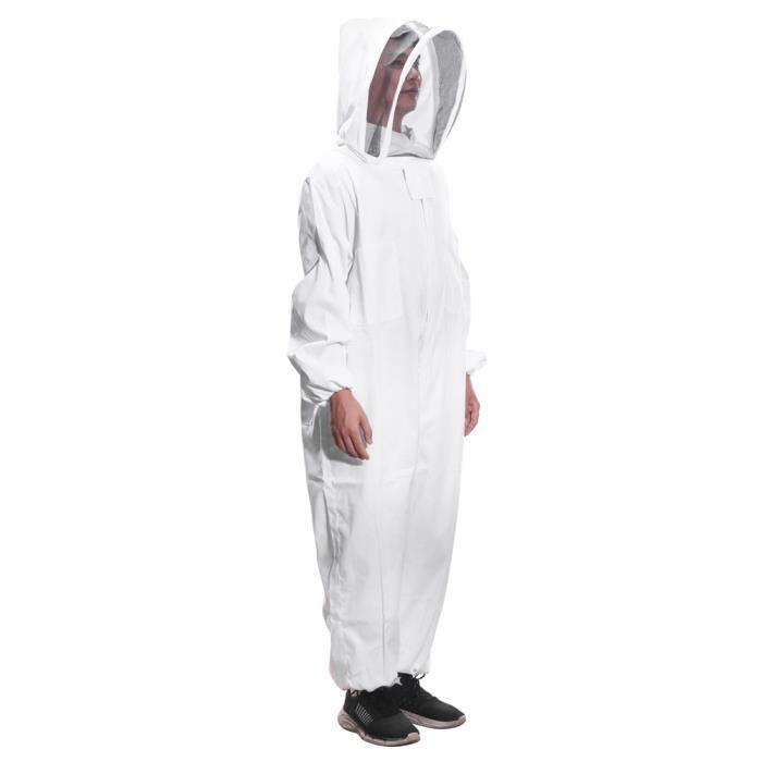 Trousse de costume de protection dapiculteur professionnelle apiculteur en coton apiculteur prot/éger l/équipement blanc XXL