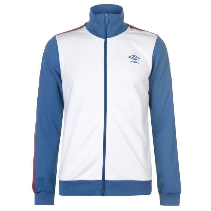 Umbro Top De Survêtement Homme Blanc/bleu