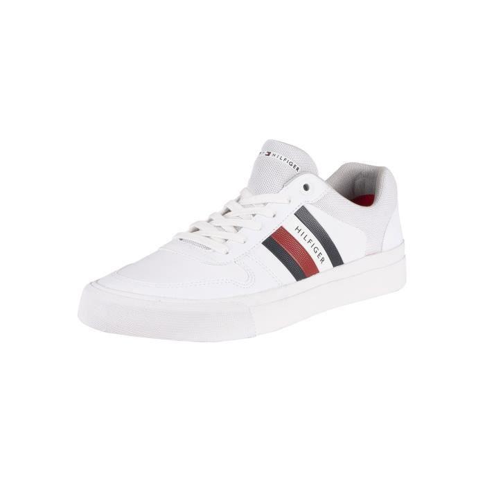 Tommy Hilfiger Chaussures Hommes Core Corporate Baskets Sport Men Shoes blanc