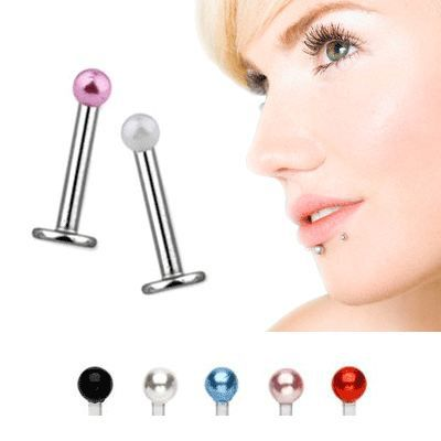 piercing micro labret ou tragus perla perle rose achat vente labret piercing micro labret. Black Bedroom Furniture Sets. Home Design Ideas