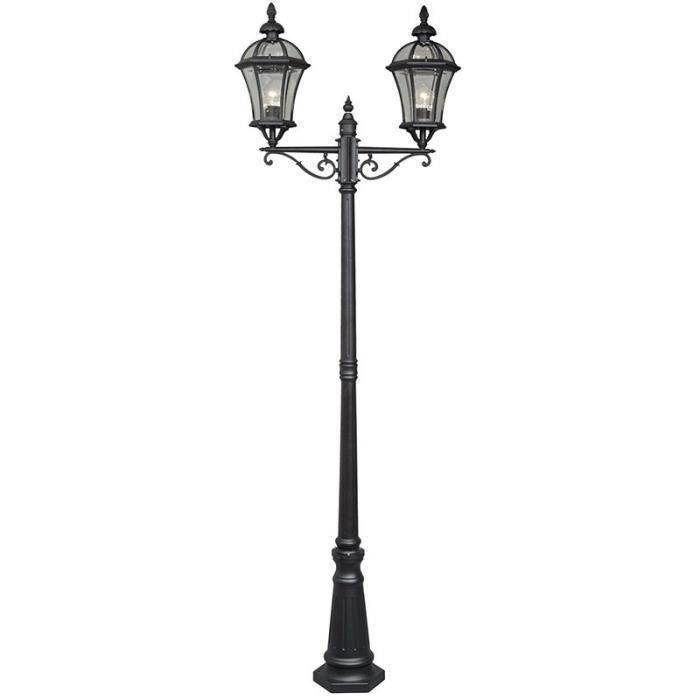 paris prix lampadaire ext rieur 2 t tes rodia noir. Black Bedroom Furniture Sets. Home Design Ideas