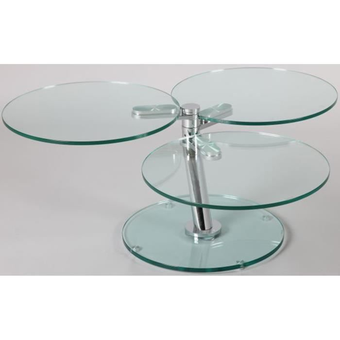 Table basse verre ronde articul e l750 1180 x p550 x - Table basse verre ronde ...