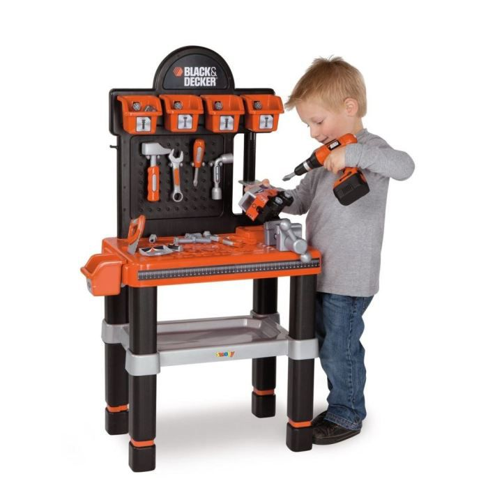 smoby bricolo center enfant black decker achat vente bricolage tabli cdiscount. Black Bedroom Furniture Sets. Home Design Ideas