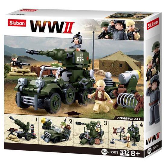 JEU DE CONSTRUCTION COMPATIBLE LEGO SLUBAN WWII 2EME GUERRE MONDIALE BATAILLE DE