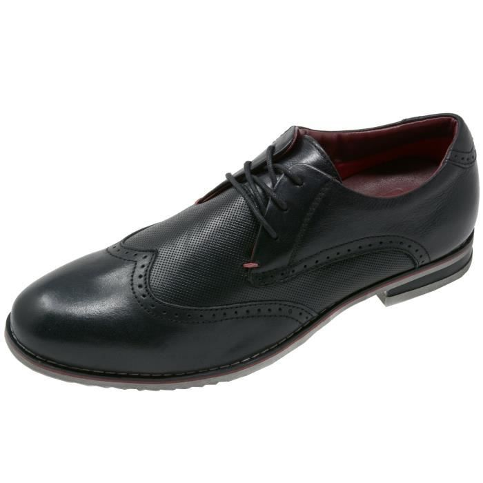 Double Diamond By Men's Oxfords Genuine Leather Wingtip Dress Shoes AGVPW Taille-46