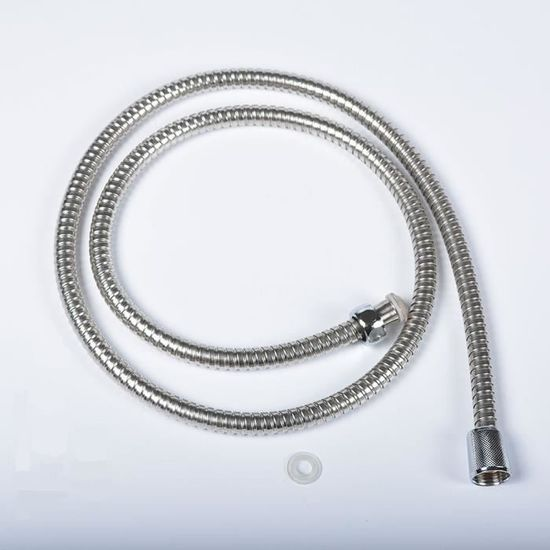 80cm flexible en acier inoxydable salle de bains Tuyau deau de douche pour Accessoires de salle de bains ext/érieure int/érieur