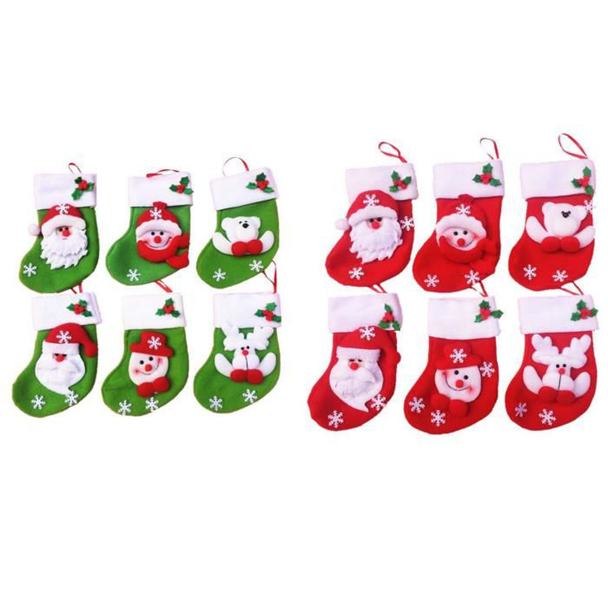 12 les d corations de no l de mini chaussettes de no l for Les decorations de noel