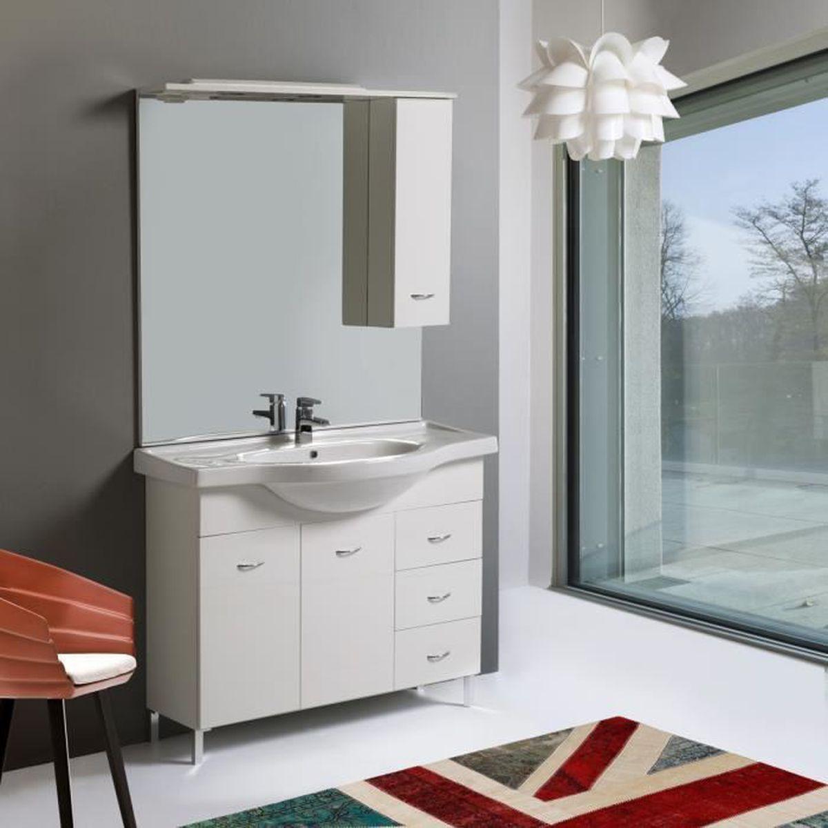 Modelle Salle De Bain meubles de salle de bain mobile de 105 cm modÈle perla