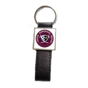 PORTE-CLÉS Porte-clés acier/simili cuir Rugby Union Bordeaux