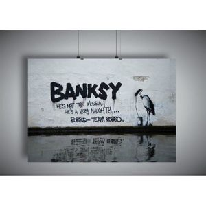 AFFICHE - POSTER Poster BANKSY STREET ART GRAFFITI Wall Art V1 - A3